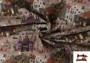 Acheter en ligne Tissu en Coton Nuit d'Halloween