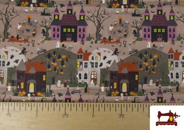 Vente en ligne de Tissu en Coton Nuit d'Halloween