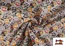Vente en ligne de Tissu en Coton Halloween Imprimé Citrouilles avec Visage