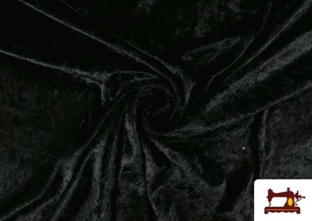 Tissu en Velours Économique couleur Noir