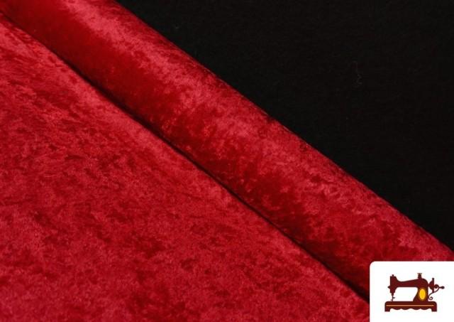 Tissu en Velours Économique couleur Rouge