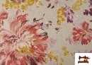 Vente de Tissu en Canvas de Fleurs Pivoines de Couleur Pastel