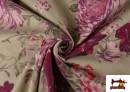 Vente en ligne de Tissu en Canvas avec Fleurs Grenat