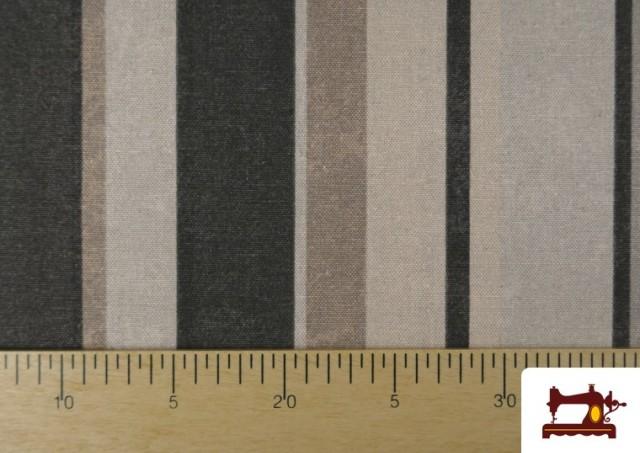 Acheter Tissu en Canvas à Rayures Beige