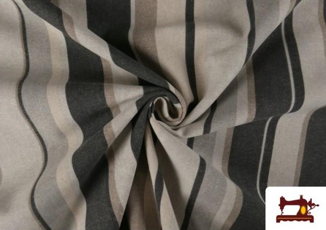Vente en ligne de Tissu en Canvas à Rayures Beige