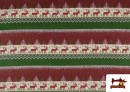 Acheter en ligne Tissu en Sweat Imitation Pull de Noël couleur Rouge