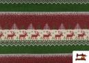Vente en ligne de Tissu en Sweat Imitation Pull de Noël couleur Rouge
