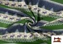 Acheter en ligne Tissu en Sweat Imitation Pull de Noël couleur Bleu