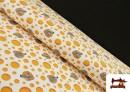 Tissu de Tee-Shirt Imprimé avec Souris et Fromage