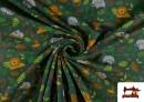 Tissu de T-Shirt Infantile Imprimé avec Jungle Verte