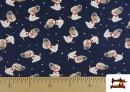 Tissu de T-Shirt Infantile Imprimé avec Chiens Astronautes