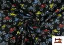 Tissu de T-Shirt avec Imprimé Monster Trucks