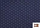 Vente de Tissu Texan avec Imprimé Géométrique Triangles couleur Bleu Marine