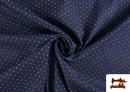 Vente en ligne de Tissu Texan avec Imprimé Géométrique Triangles couleur Bleu Marine