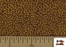 Vente de Tissu en Coton avec Imprimé Léopard de Couleurs couleur Moutarde