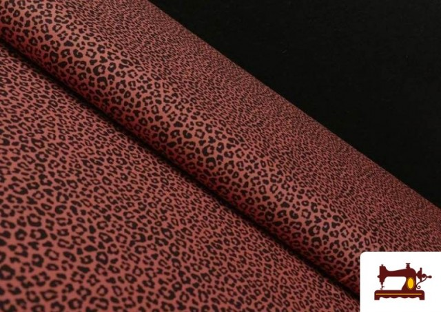 Vente en ligne de Tissu en Coton avec Imprimé Léopard de Couleurs