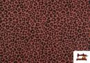 Tissu en Coton avec Imprimé Léopard de Couleurs