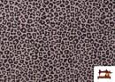 Vente en ligne de Tissu en Coton avec Imprimé Léopard de Couleurs couleur Rose pâle