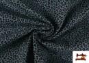Vente en ligne de Tissu en Coton avec Imprimé Léopard de Couleurs couleur Bleu Marine
