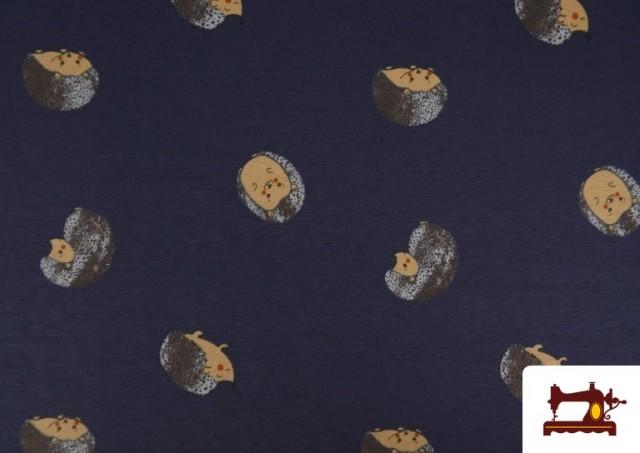 Tissu de Tee-Shirt Infantile Imprimé avec Hérissons
