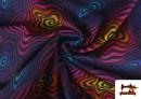 Tissu en Softshell avec Imprimé Psychédélique de Couleurs