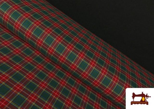 Tissu Viyella Imprimé à Carreaux Classiques Verts