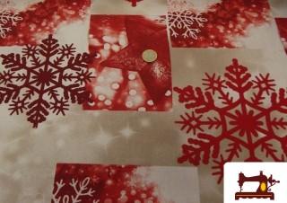 Tissu de Canvas avec Décoration de Noël