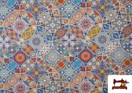 Vente de Tissu en Canvas Imprimé Vintage - Mandala