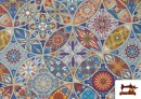 Acheter Tissu en Canvas Imprimé Vintage - Mandala