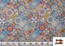 Acheter en ligne Tissu en Canvas Imprimé Vintage - Mandala