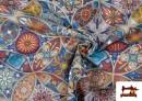 Vente en ligne de Tissu en Canvas Imprimé Vintage - Mandala