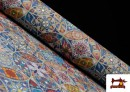 Tissu en Canvas Imprimé Vintage - Mandala