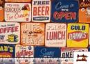 Vente de Tissu en Canvas Imprimé avec Motifs de Panneaux Americains