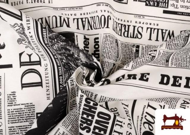 Tissu Imprimé avec Journal Presse