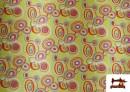 Tissu Brillant Rétro Années 60 Cercles