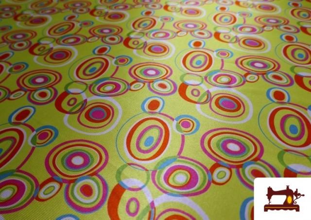 Acheter Tissu Brillant Rétro Années 60 Cercles