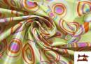 Acheter en ligne Tissu Brillant Rétro Années 60 Cercles