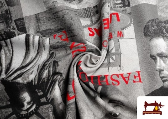 Vente en ligne de Tissu en Canvas avec Acteurs de Hollywood