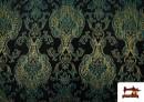 Acheter Tissu de Rase Brocart Jacquard Cationique (Deux Faces) couleur Bleu Cobalt