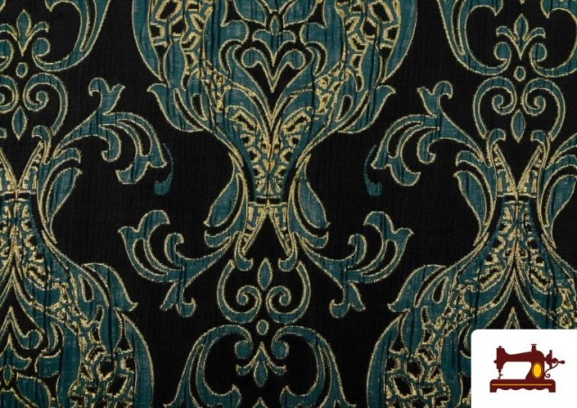 Vente de Tissu de Rase Brocart Jacquard Cationique (Deux Faces) couleur Bleu Cobalt