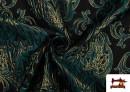 Acheter en ligne Tissu de Rase Brocart Jacquard Cationique (Deux Faces) couleur Bleu Cobalt