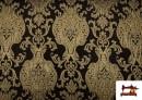 Vente en ligne de Tissu de Rase Brocart Jacquard Cationique (Deux Faces) couleur Noir
