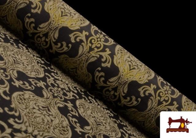 Acheter Tissu de Rase Brocart Jacquard Cationique (Deux Faces) couleur Noir