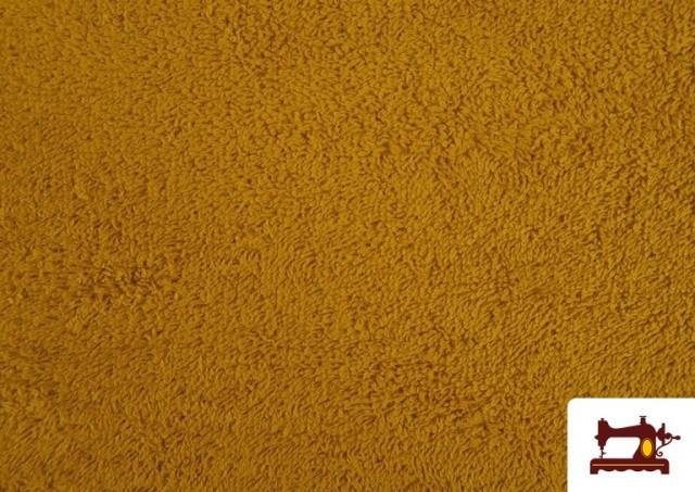 Vente de Tissu pour Serviettes avec Boucle Américaine de Couleur Beige Sable couleur Moutarde
