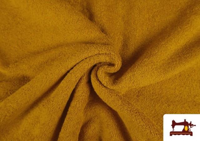 Tissu pour Serviettes avec Boucle Américaine de Couleur Beige Sable couleur Moutarde