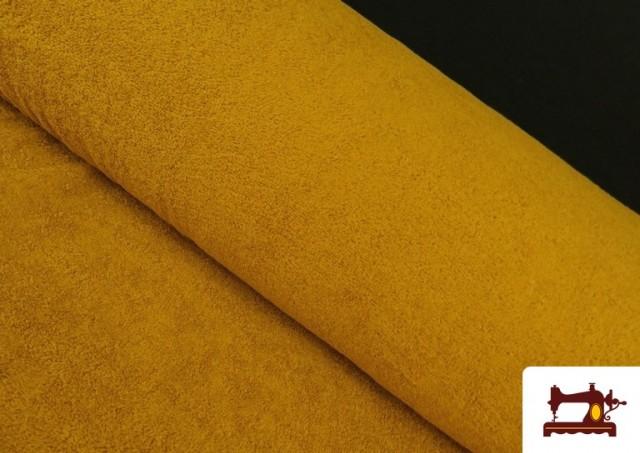 Acheter en ligne Tissu pour Serviettes avec Boucle Américaine de Couleur Beige Sable couleur Moutarde