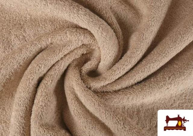 Tissu pour Serviettes avec Boucle Américaine de Couleur Beige Sable couleur Beige