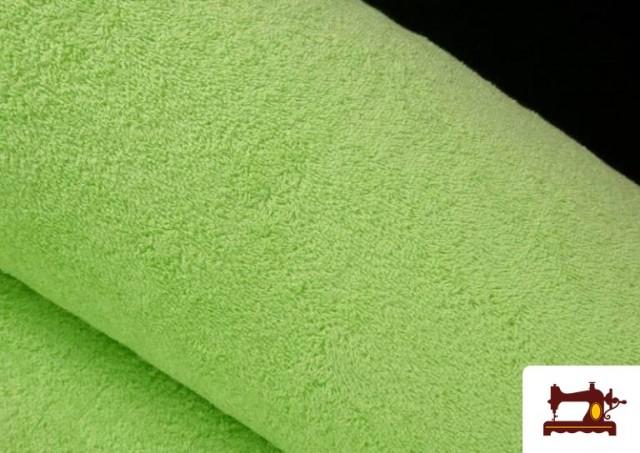 Vente de Tissu pour Serviettes avec Boucle Américaine de Couleur Beige Sable couleur Vert menthe
