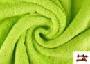 Tissu pour Serviettes avec Boucle Américaine de Couleur Beige Sable couleur Vert pistache