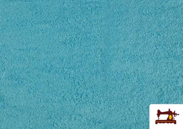 Acheter Tissu pour Serviettes avec Boucle Américaine de Couleur Beige Sable couleur Bleu turquoise